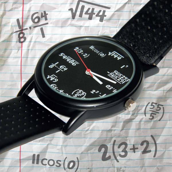Ceas de mana cu ecuatii matematica