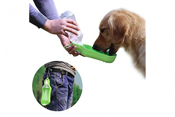 Recipient portabil cu apa pentru caini