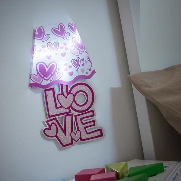 Autocolant de perete cu LED