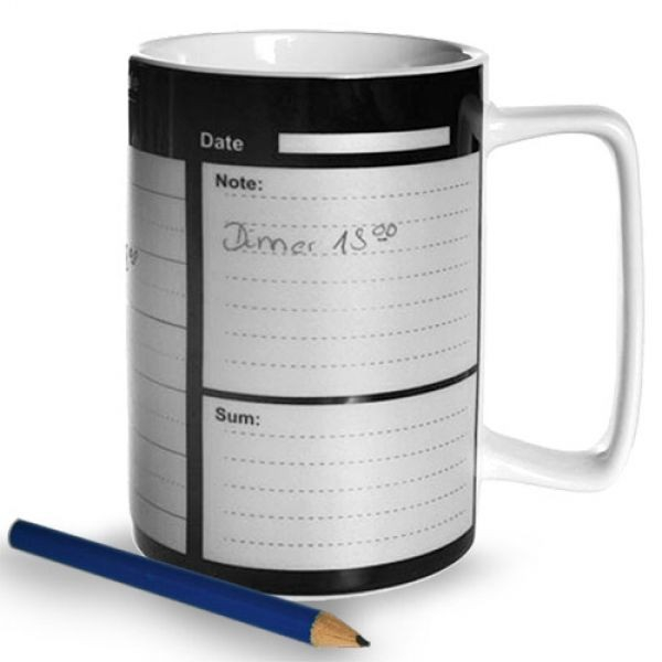 Cana cu calendar si creion
