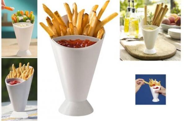 Cupa 2 in 1 pentru cartofi si sos
