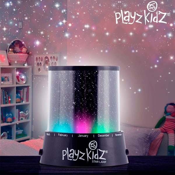 Lampa  cu led si proiector de Stele Playz Kidz