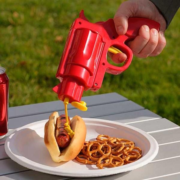 Pistol mustar si ketchup
