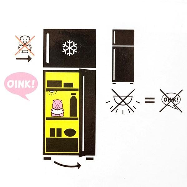 Purcelus cu sunet pentru frigider Diet