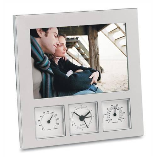 Statie meteo cu rama foto, higrometru si termometru