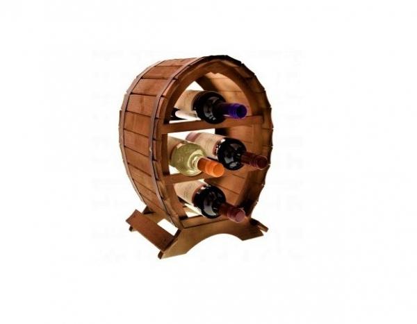 Suport lemn de vin pentru 4 sticle