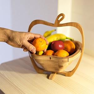 Cos pliabil din lemn pentru fructe