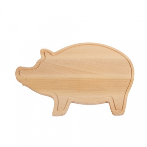Tocator din lemn in forma de porcusor