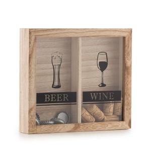 Tablou decorativ pentru dopuri de bere si vin