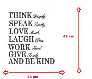 Autocolant/ sticker inspirational Think Deeply