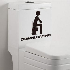 Autocolant de toaleta Downloading
