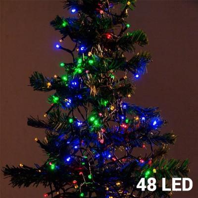Lumini de Crăciun Multicolore (48 LED)