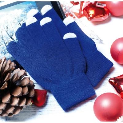 Manusi touchscreen albastre