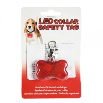 Placuta de identificare cu LED pentru caini