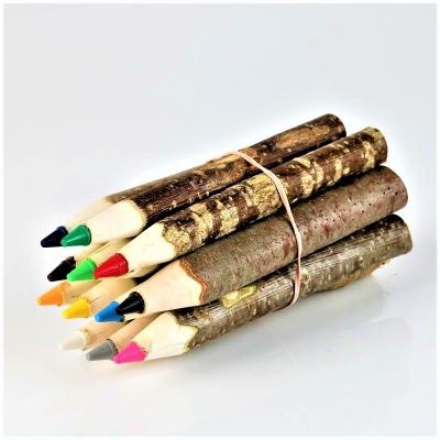 Set creioane colorate din lemn