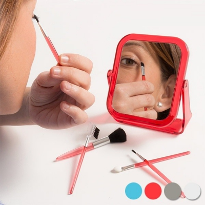 Set oglinda cu pensule de machiaj , 6 piese