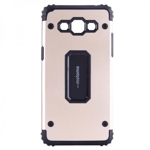 Capac de protectie Samsung Galaxy J3 (2016), Motomo Armor Hybrid, Gold
