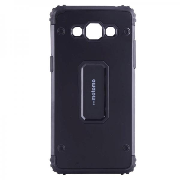 Capac de protectie Samsung Galaxy J3 (2016), Motomo Armor Hybrid, Negru