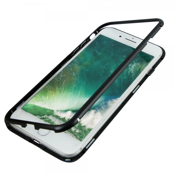 Husa 360 Magnetic Case pentru iPhone 8 Plus, Negru
