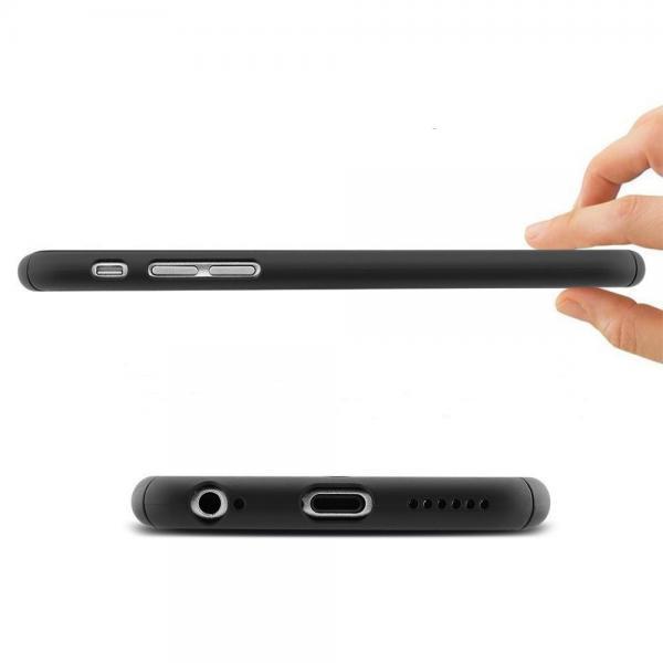 Husa Full Cover 360 (fata + spate + geam sticla) pentru Apple iPhone 6 Plus / 6S Plus, Negru