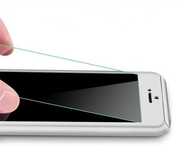 Husa Full Cover 360 (fata + spate + geam sticla) pentru Apple iPhone 6 Plus / 6S Plus, Silver