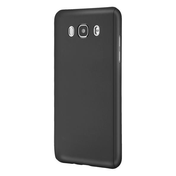 Husa Full Cover 360 (fata + spate + geam sticla) pentru Samsung Galaxy J5 (2016), Negru