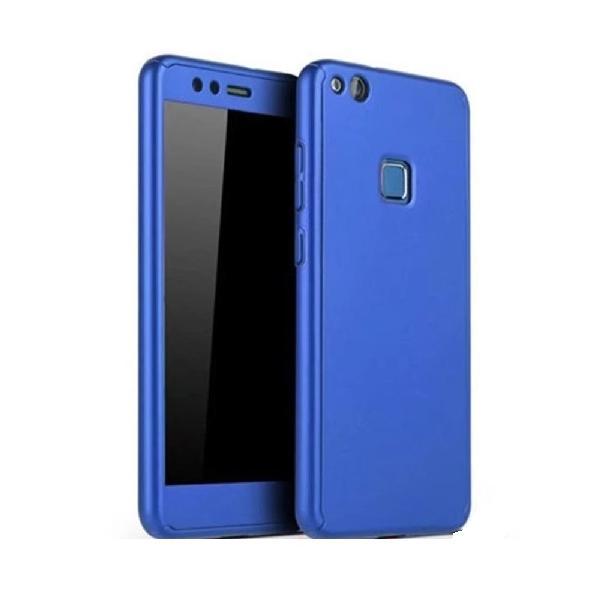 Husa Full Cover 360 + folie sticla Huawei P10 Lite, Albastru