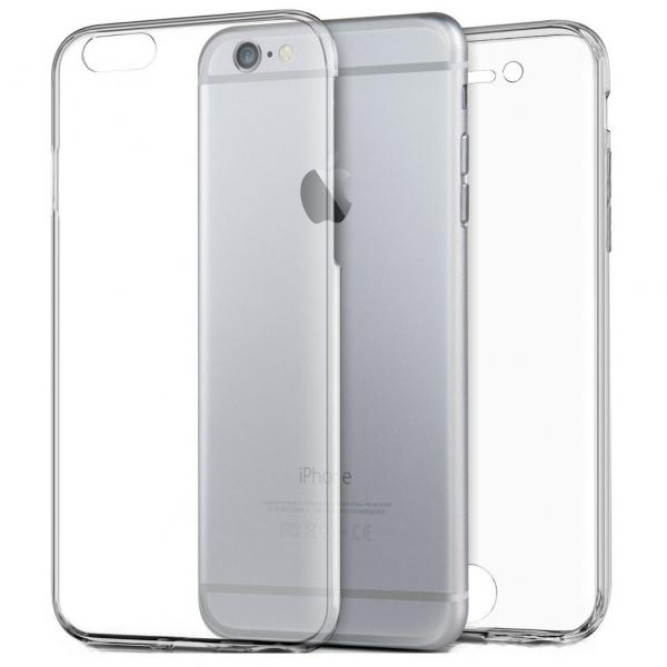 Husa Full TPU 360 (fata + spate) pentru Apple iPhone 6 Plus / 6S Plus, Transparent