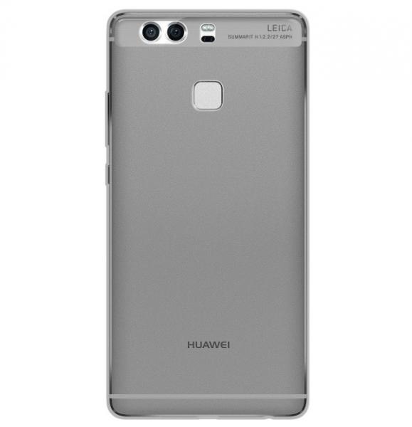 Husa Full TPU 360 (fata + spate) pentru Huawei P9 Plus, Gri Transparent