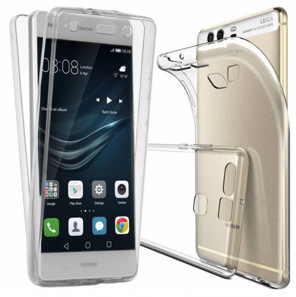 Husa Full TPU 360 (fata + spate) pentru Huawei P9, Transparent