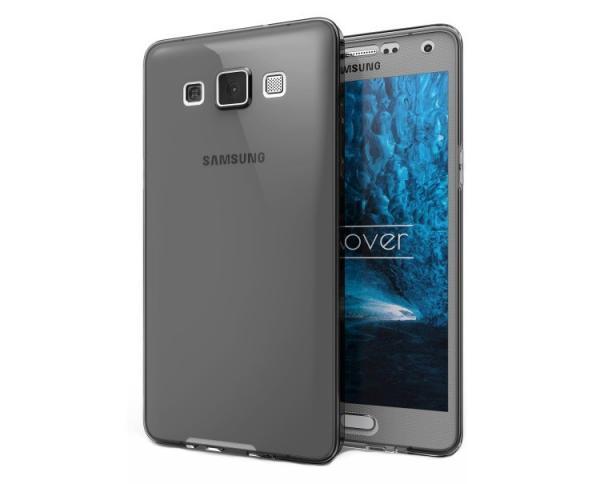Husa Full TPU 360 (fata + spate) pentru Samsung Galaxy A7 (2015), Gri Transparent