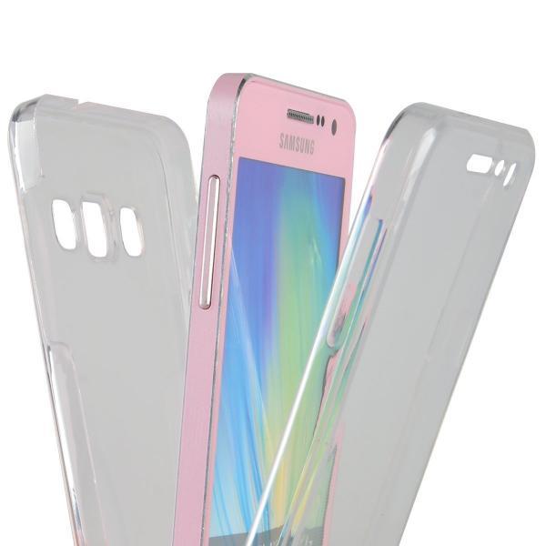 Husa Full TPU 360 (fata + spate) pentru Samsung Galaxy A7 (2015), Transparent