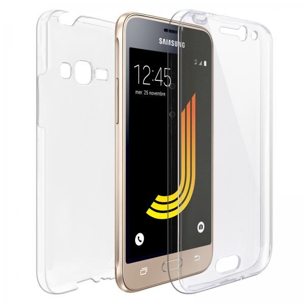 Husa Full TPU 360 (fata + spate) pentru Samsung Galaxy J1 (2016), Transparent