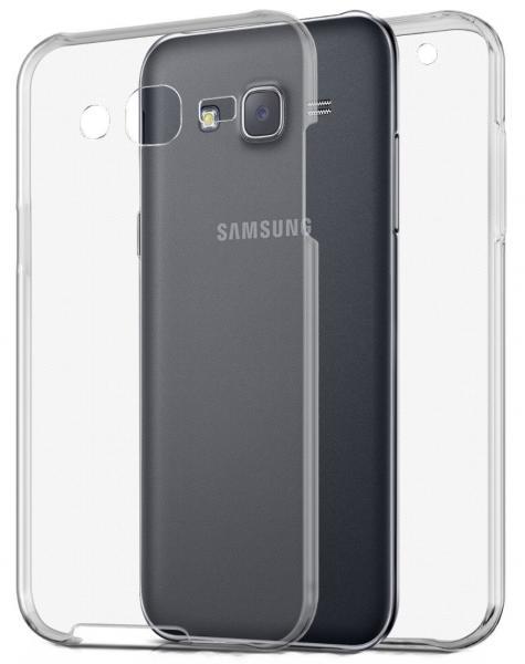 Husa Full TPU 360 (fata + spate) pentru Samsung Galaxy J5, Transparent
