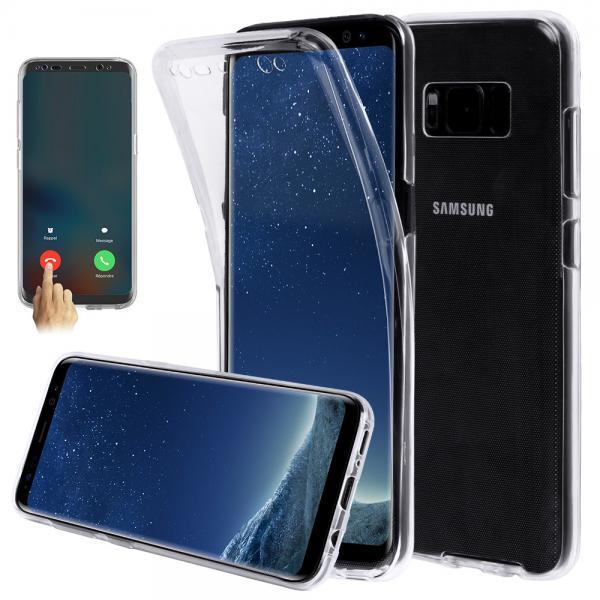 Husa Full TPU 360 (fata + spate) pentru Samsung Galaxy S8, Transparent