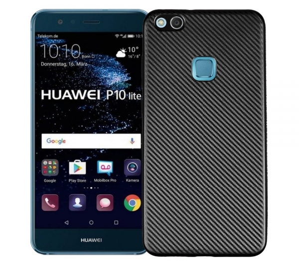 Husa Huawei P10 Lite i-Zore Carbon, Negru