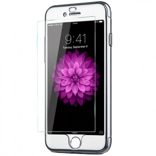 Husa Joyroom 360 Ring + folie sticla iPhone 6 / 6S, Silver