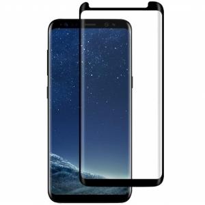 Folie sticla curbata Full Glue Samsung Galaxy S8, Negru