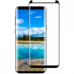 Folie sticla curbata Full Glue Samsung Galaxy S9 Plus, Negru