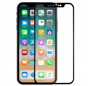 Folie sticla securizata 5D Full Glue iPhone X, Negru