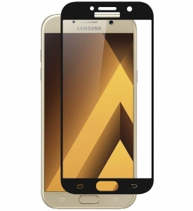 Folie sticla securizata 5D Full Glue Samsung Galaxy A7 (2017), Negru