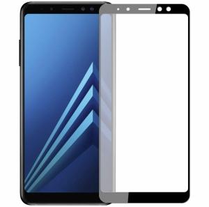 Folie sticla securizata 5D Full Glue Samsung Galaxy A8 (2018), Negru