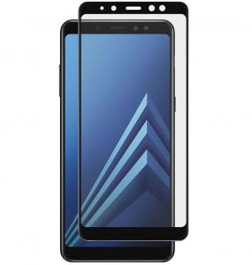 Folie sticla securizata 5D Full Glue Samsung Galaxy A8 Plus (2018), Negru