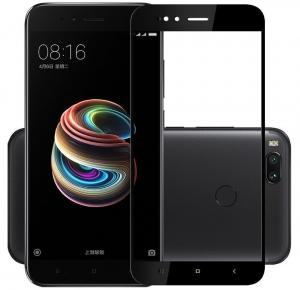 Folie sticla securizata 5D Full Glue Xiaomi Mi A1, Negru