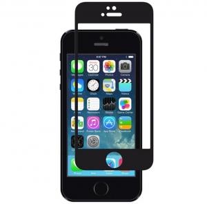 Folie sticla securizata Full Glue iPhone 5 / 5S / SE, Black