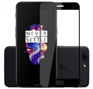 Folie sticla securizata Full Glue OnePlus 5, Black