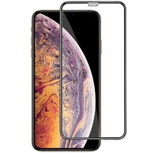 Folie sticla securizata Full Glue pentru iPhone XS Max, Negru