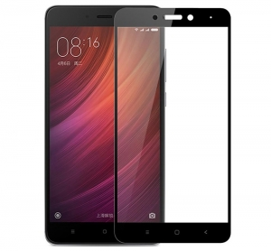 Folie sticla securizata Full Glue Xiaomi Redmi Note 4 (Mediatek), Black