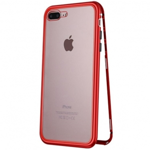 Husa 360 Magnetic Case pentru iPhone 7 Plus, Red