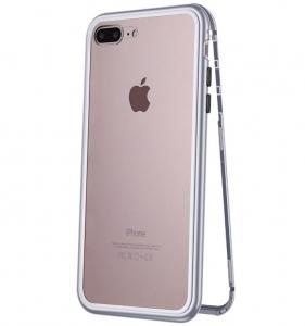 Husa 360 Magnetic Case pentru iPhone 8 Plus, Silver